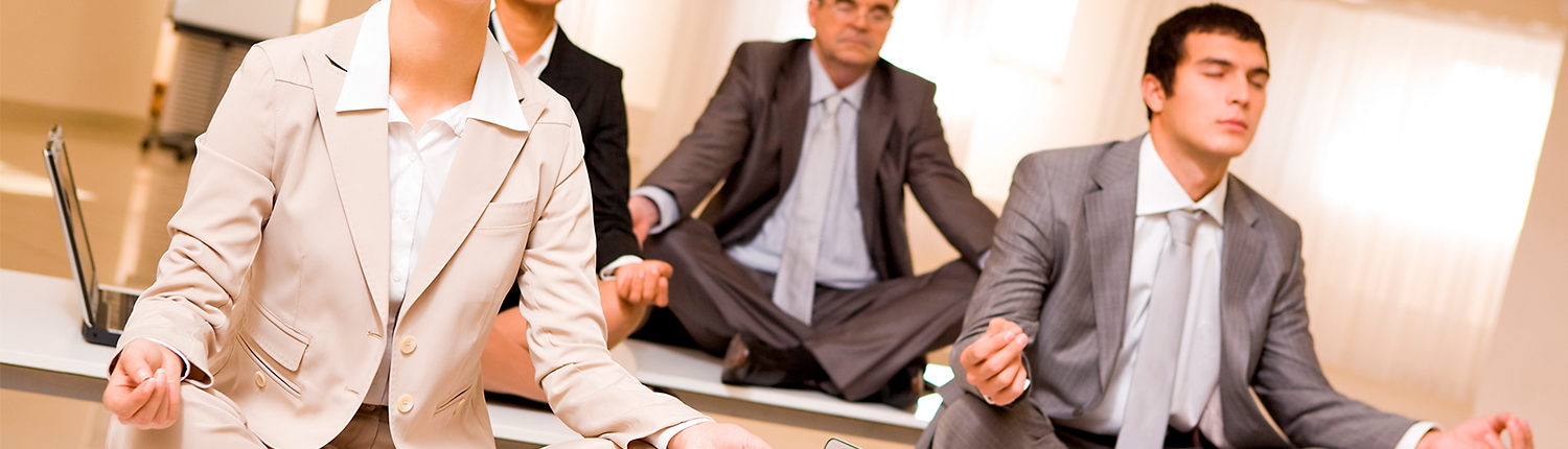 meditating businesspeople